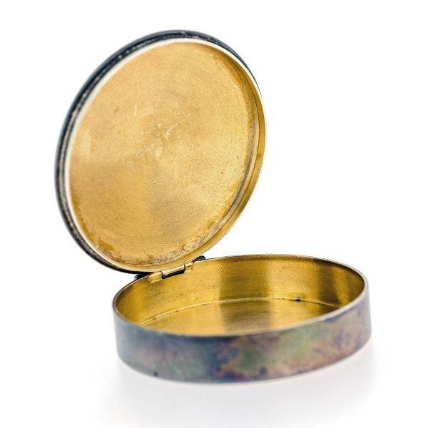 petite boite ronde bijoux argent