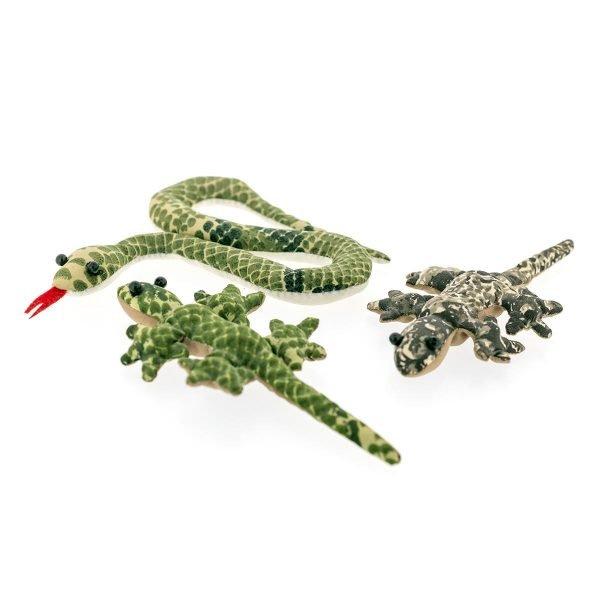 serpent lezard peluche sable