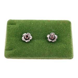 Boucles d'oreilles argent pierres précieuses