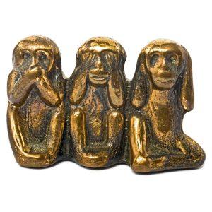 Statuette 3 singes de la sagesse