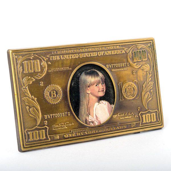 Cadre Photo $100 en laiton