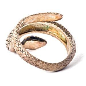 Bague Serpent en Argent avec 2 Rubis