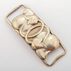 Pièce ArtDeco en Argent pour ruban collier