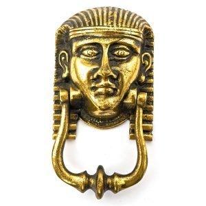 Tête Pharaon Egyptien heurtoir de porte en laiton