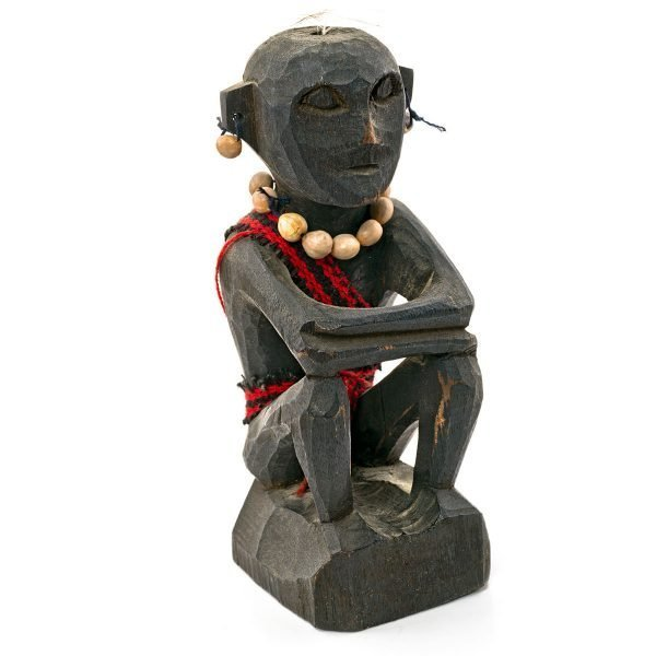 Statue Philippine bois IFUGAO avec collier