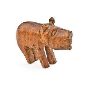 Petite statuette Sanglier en bois